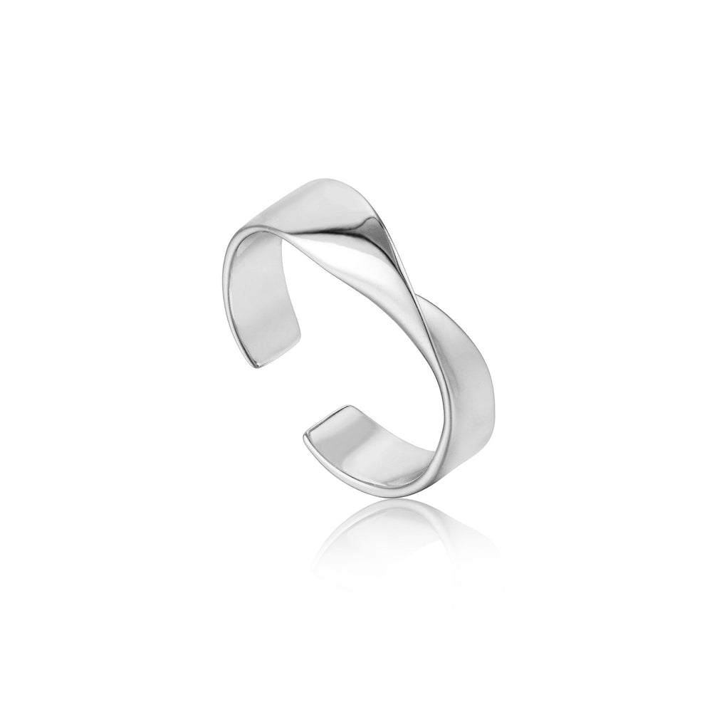 Silver Helix Adjustable Ring