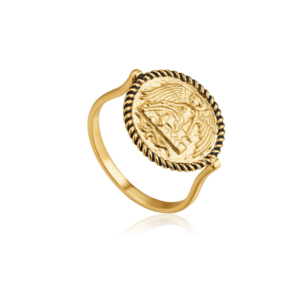 Gold Winged Goddess Ring