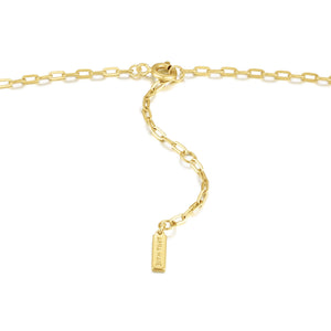 Gold Horseshoe Link Necklace