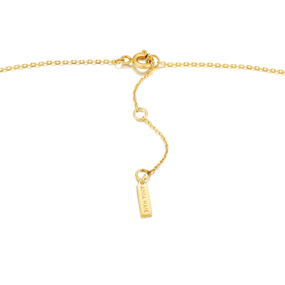 Gold Mother Of Pearl Emblem Necklace
