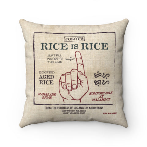 Rice is Rice Finger Pillow