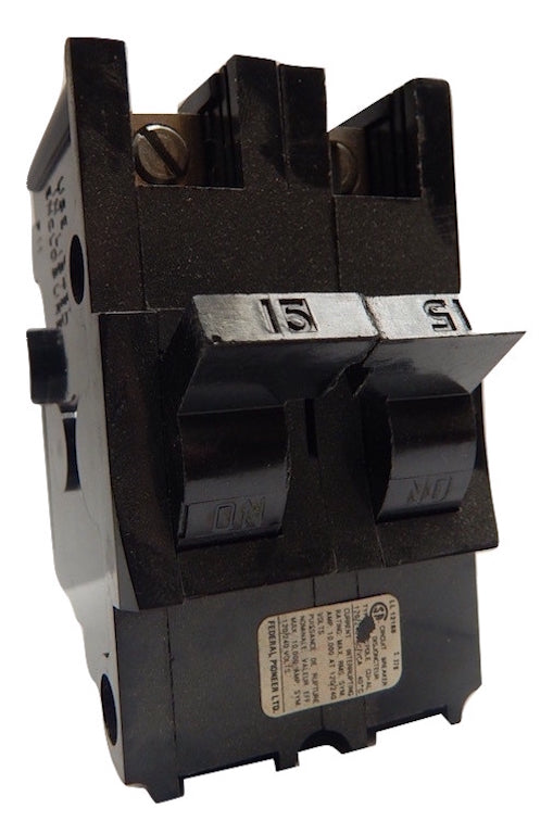 Federal Pacific   215NI     15A 2P Thick Plug In Circuit Breaker