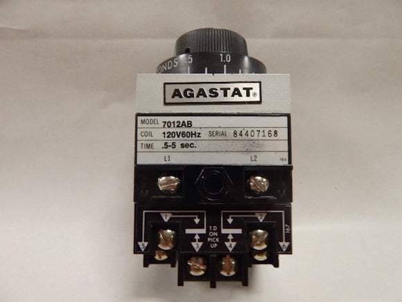 AGASTAT   7012AB     Time Delay Relay 120VAC  5 - 5 seconds  TE Connectivity