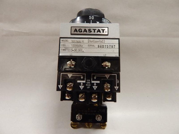 AGASTAT   7012ADLY1     Time Delay Relay 120VAC  5 - 50 seconds  TE Connectivity