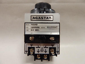 AGASTAT   7022AB     Time Delay Relay 120VAC .5 - 5 seconds  TE Connectivity