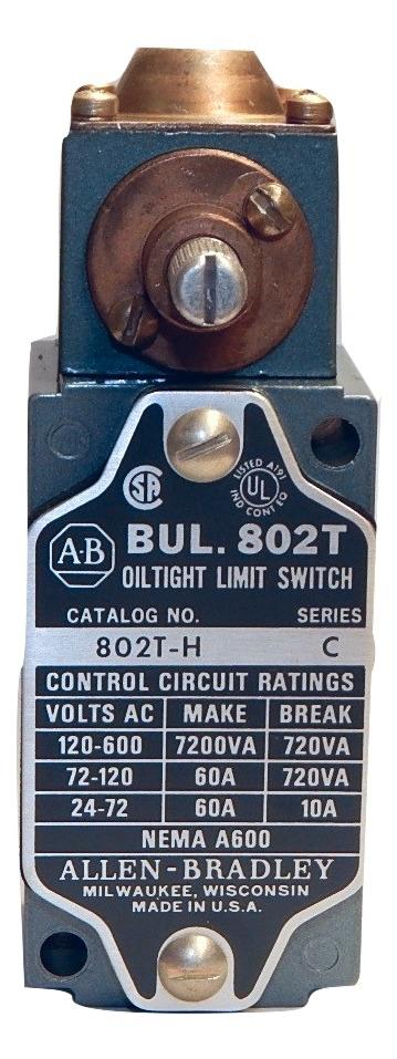 Allen Bradley    802T-H     Oil Tight Limit Switch 1NC 1NO  Lever Type