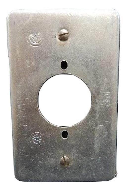 Appleton   FSK-1R-W       1 Gang Round Hole 1-1332  Cover FS Steel