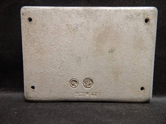 Appleton   FSK-3B-CM     3 Gang Blank Cover FS Malleable Iron