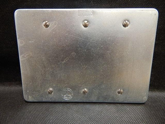 Appleton   FSK-3B     3 Gang Blank Cover FS Steel