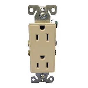 COOPER WIRING DEVICES   9505DS     ASPIRE 15A 125V 2P3W GROUNDING DUPLEX RECEPTACLE DESERT SAND