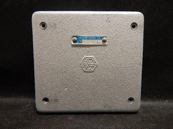 Crouse Hinds   S1002G     2 Gang Blank Cover FS Malleable Iron