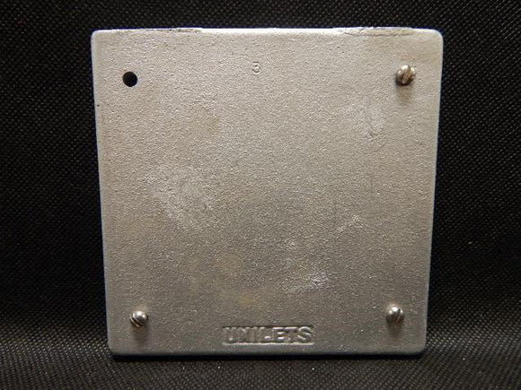 Crouse Hinds   S1002       2 Gang Blank Cover FS Aluminum