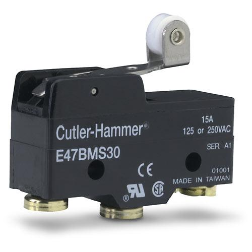 Cutler Hammer   E47BMS30     Roller Lever Limit Switch 1 NO 1 NC 15A 125 or 250VAC