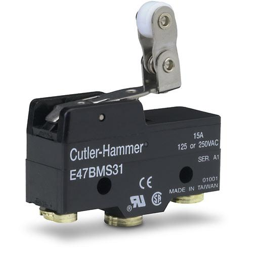 Cutler Hammer   E47BMS31     One Way Roller Limit Switch 1 NO 1 NC 15A 125 or 250VAC