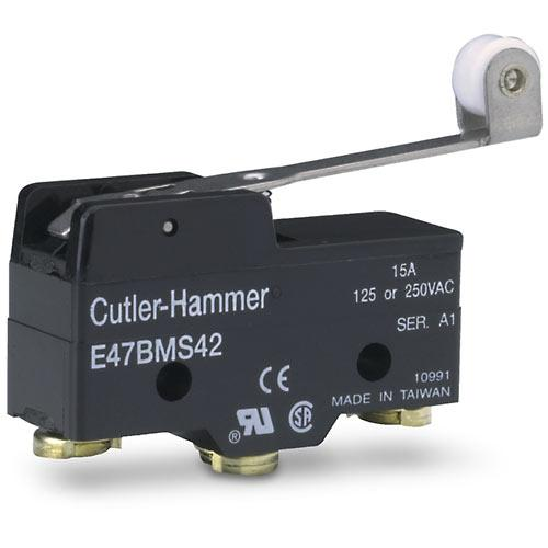 Cutler Hammer   E47BMS42     Extended Roller Lever Limit Switch 1 NO 1 NC 15A 125 or 250VAC