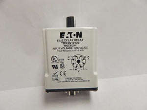 Cutler Hammer   TMR5N12120     On Delay Time Relay  120V ACDC 3-300 Sec