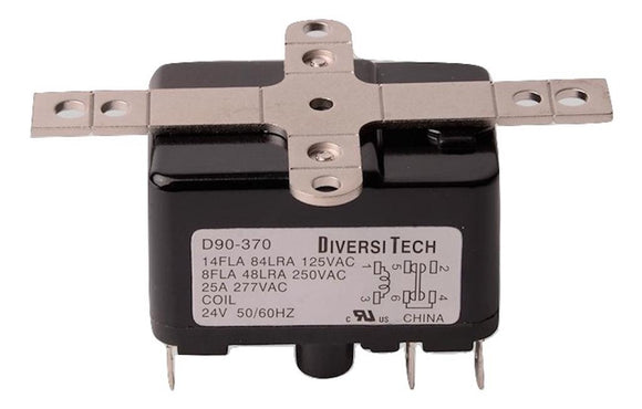 DiversiTech   D90-370     SPDT General Purpose Relay 25A 24VAC Coil
