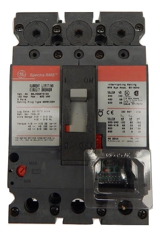 General Electric   SELA36AT0100     3 Pole 600V Frame Only Comes With No Rating Plug