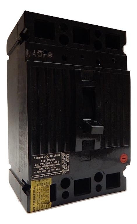 General Electric   TEB132040WL     3 Pole 40 Amp 240V Molded Case Circuit Breaker