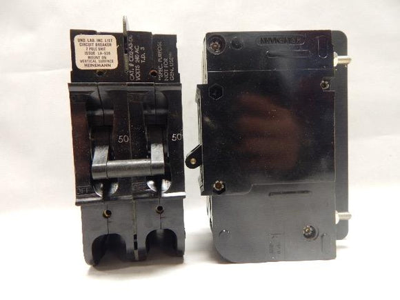 Heinemann   CD2-A3-DU     2 POLE 50 AMP 240 VOLT CIRCUIT BREAKER