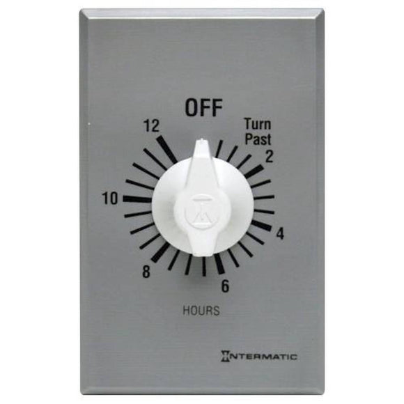 Intermatic   FF12HC      125-277V 12 Hour Spring Wound Auto Shut-Off Timer