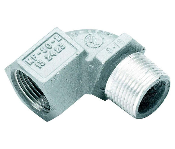 Killark   MF-90-2     Male to Female 90  34 Aluminum Elbow