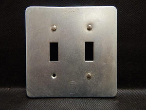 O-Z Gedney   FS-2-SCS     2 Gang Switch Cover Steel