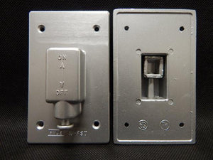 Pyle_National___N-FST_______1_Gang_Toggle_Switch_Cover_FS_Aluminum