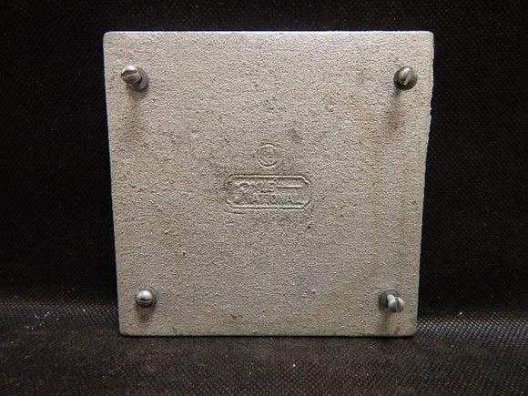 Pyle National   XC-202     2 Gang Blank Cover FS Malleable Iron