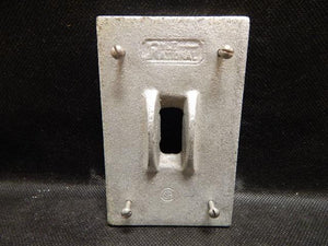 Pyle National   XCT-101     1 Gang Switch Cover FS with Guard Malleable Iron