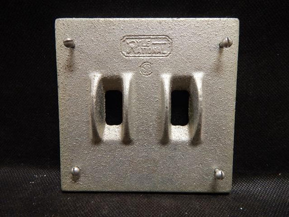 Pyle National   XCT-102     2 Gang Switch Cover FS with Guard Malleable Iron