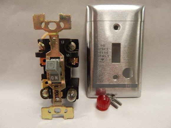 Square D   2510FS-1P      2 Pole Manual With SS Plate and Pilot Light