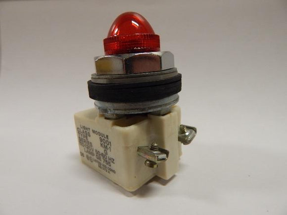 Square D   9001KP-1R9     Pilot Light Transformer Type 120VAC 305mm With Red Lens