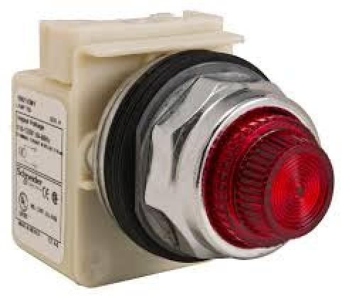 Square D   9001KP1R31      Pilot Light Red Round 120VAC 30MM