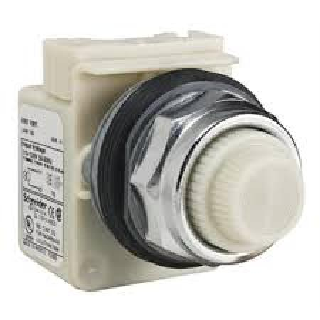 Square D   9001KP1W31     Pilot Light White Round 120VAC 30MM