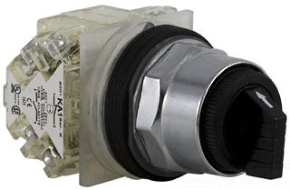 Square D   9001KS11BH13     2-Position Maintained Selector Switch with Black Knob Non-Illuminated 1N