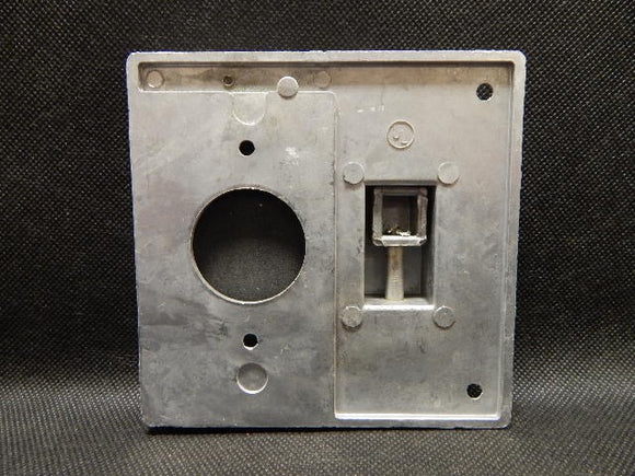 Pyle National   N-2WPTR       2 Gang Switch & Hole Fliplid Cover FS Alum.