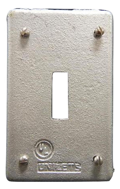 Appleton   FSK-1TS-C     1 Gang Switch Cover FS Malleable Iron