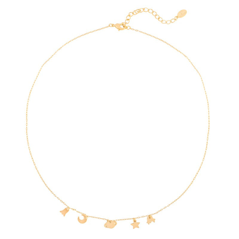 Up In Space Ketting - Goud, Zilver