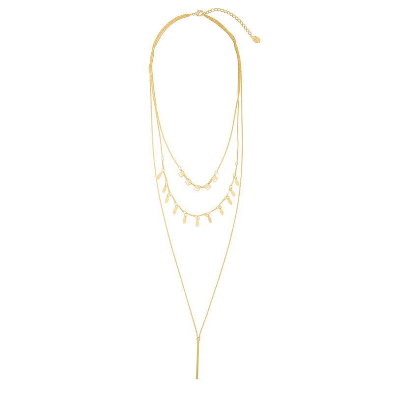 Chic Charms Necklace - Gold, Silver