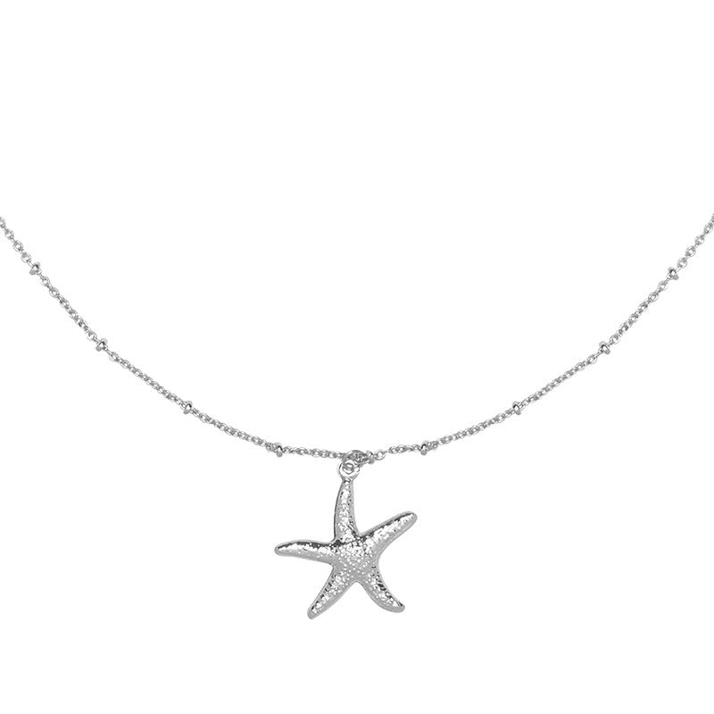 Necklace starfish wish Silver