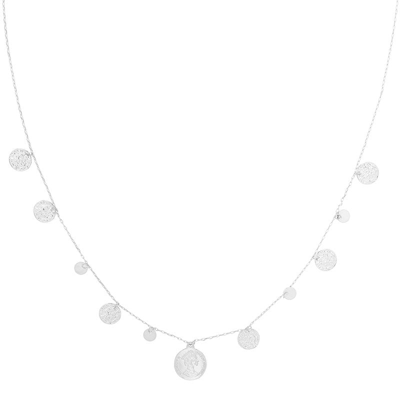 Necklace royal coins & rounds - Silver