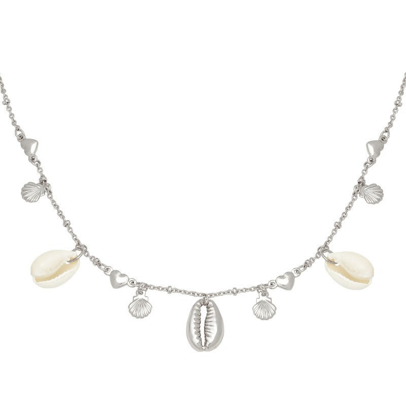 Necklace Endless Shells Silver