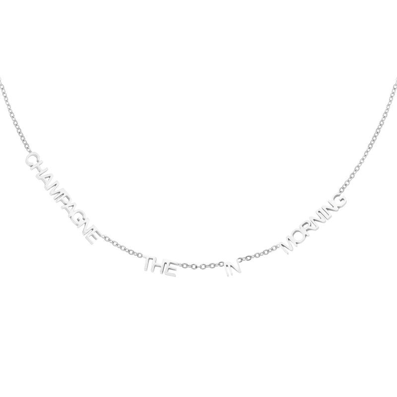Necklace Champagne in the morning - Silver, Gold