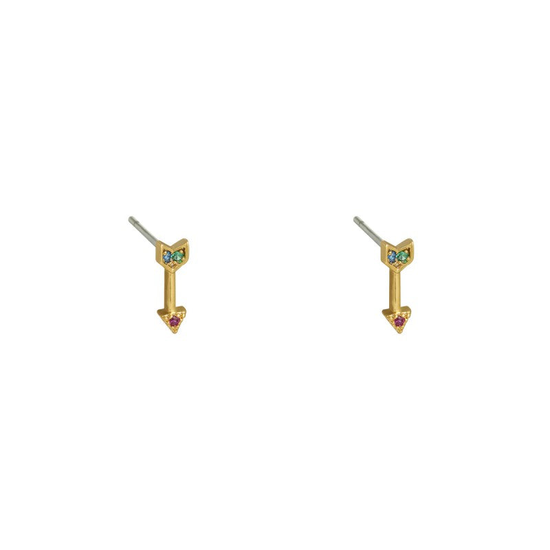 Earrings Mini target gold - Different Colors