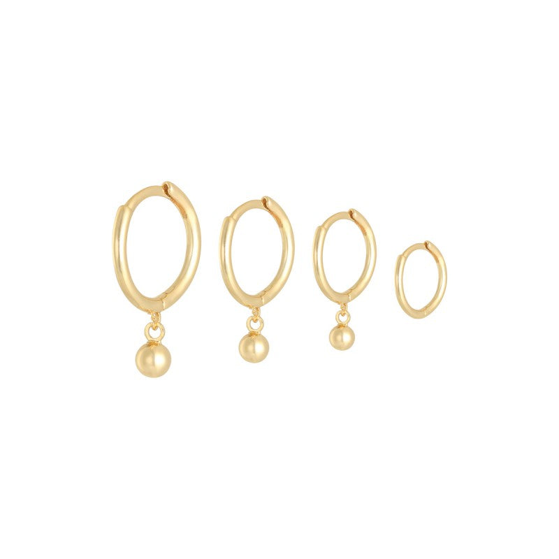 Earring Set Basic Love - Gold, Silver