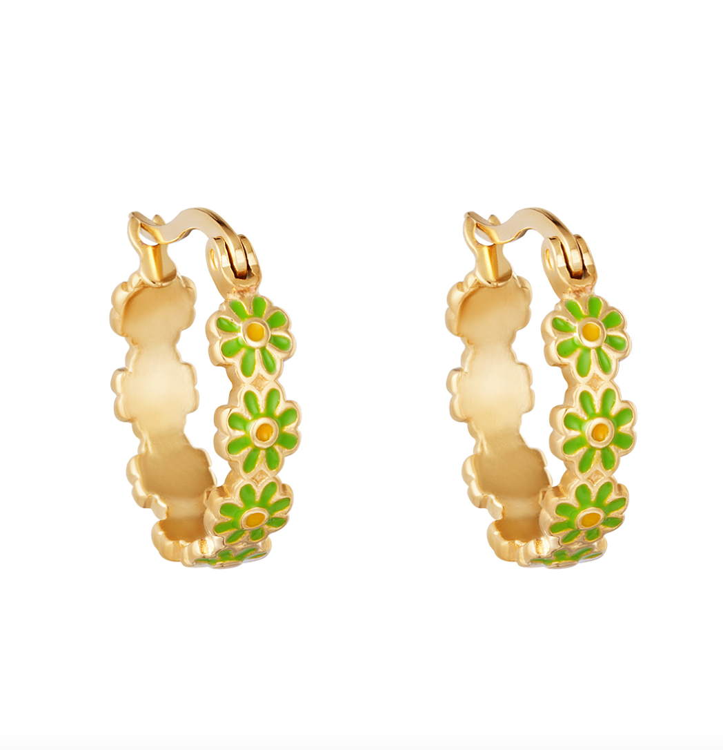 Daisy Earrings Gold - Different Colors
