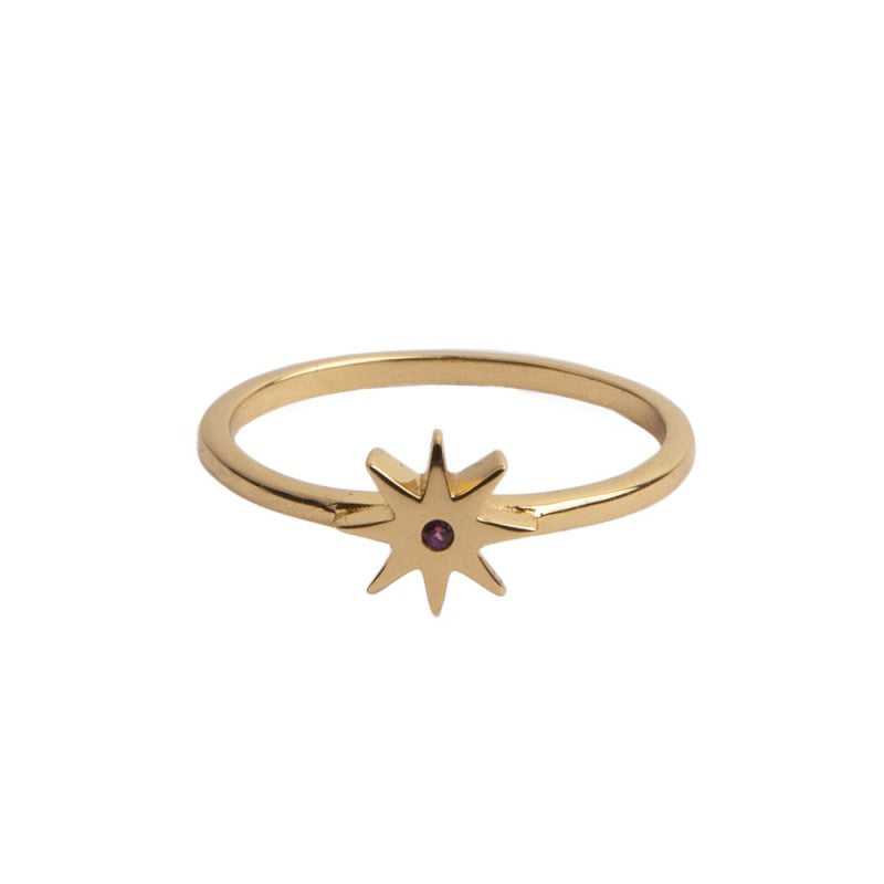 Ring Star Pink Gold