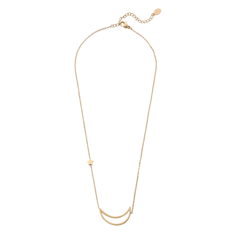 Fashion Moon Ketting - Goud, Zilver