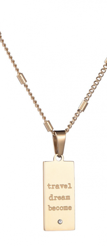 Necklace Wise Words - Silver, Gold